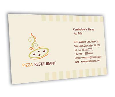 Online Business Card printing Pizza Corner