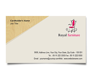 Business Card printing Furniture Showroom