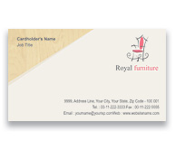 Online Business Card printing Furniture Showroom