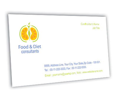Online Business Card printing Health Fitness Diet