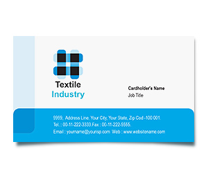 Business Card printing Textile Industry