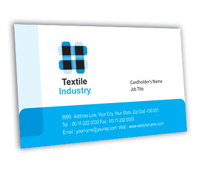 Online Business Card printing Textile Industry