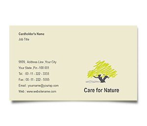 Business Card printing Tree Nursery