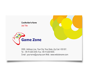 Business Card printing Game Zone