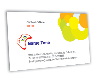 Online Business Card printing Game Zone