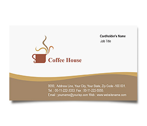 Business Card printing Coffee Shop