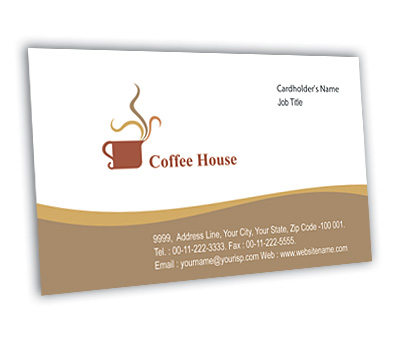 Online Business Card printing Coffee Shop