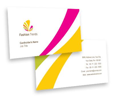 Online Business Card printing Fashion Wear