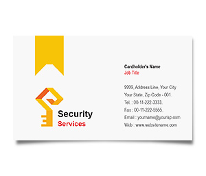 Business Card printing Brick House Security