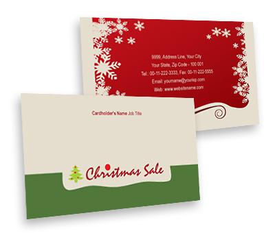 Business Card Design For Christmas Gift Shop Offset Or Digital Printing