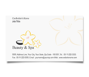 Business Card printing Beauty And Spa Centre