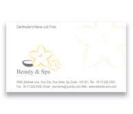 Online Business Card printing Beauty And Spa Centre