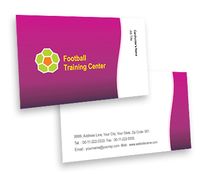 Online Business Card printing Football Club