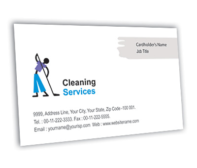 Online Business Card printing Cleaning Services