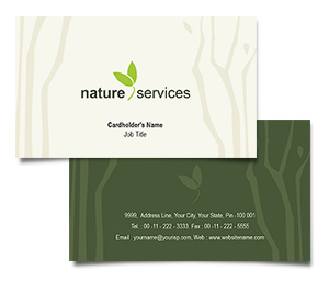 Business Card printing Rainforests