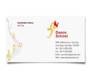 Business Card printing Dance School