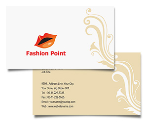 Business Card printing Fashion Point