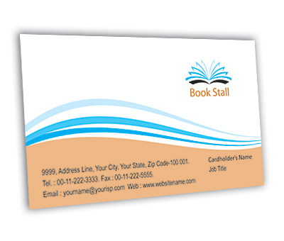 business card design for book store offset or digital printing