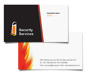 Business Card printing Security System House