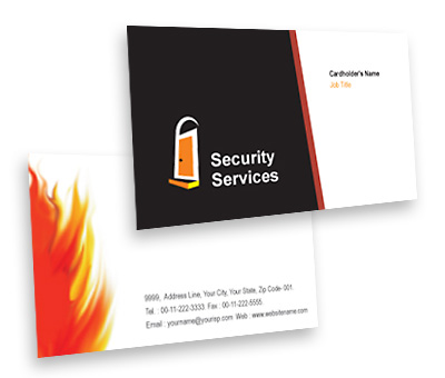 Online Business Card printing Security System House