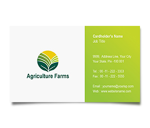 Business Card printing Agricultural Farm