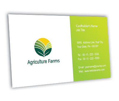 Online Business Card printing Agricultural Farm