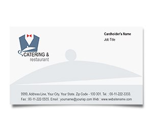 Business Card printing Catering And Restaurant