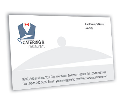 Online Business Card printing Catering And Restaurant