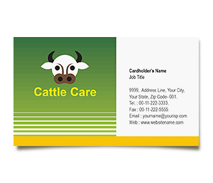 Business Card printing Cattle Farming