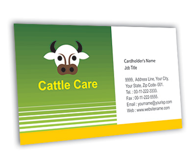 Online Business Card printing Cattle Farming