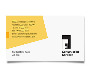 Business Card printing Wooden Construction