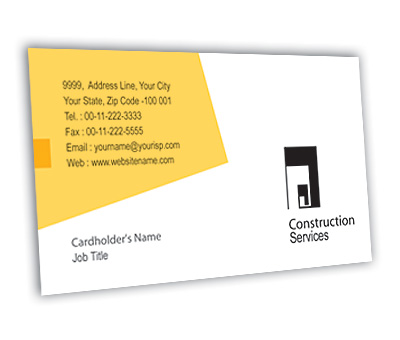 Online Business Card printing Wooden Construction