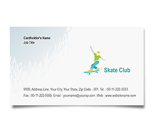 Business Card printing Skate Club