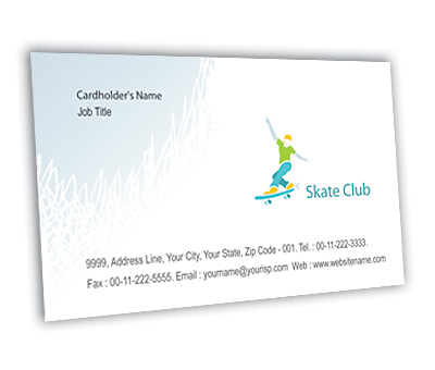 Online Business Card printing Skate Club