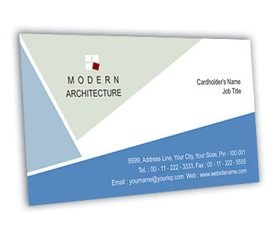 Online Business Card printing Modern Architecture