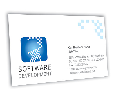 Business card design for software development company offset or online business card printing software development company reheart Choice Image