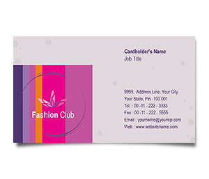 Business Card printing New Fashion Shop