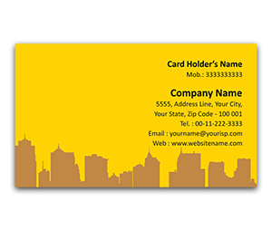 Flexi Business Card printing Town Planner service