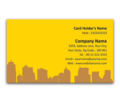 Online Flexi Business Card printing Town Planner service