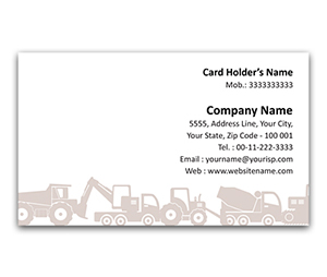 Flexi Business Card printing Earth Mover