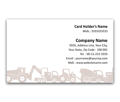 Online Flexi Business Card printing Earth Mover