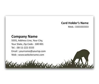 Flexi business card design for zoo park offset or digital printing online flexi business card printing zoo park reheart Image collections