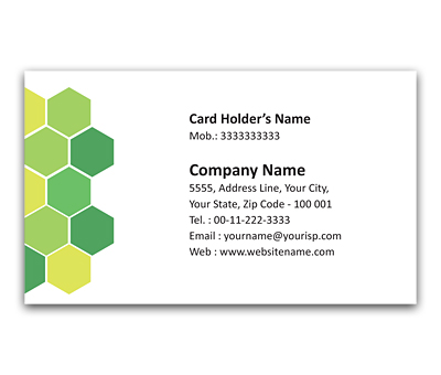 Online Flexi Business Card printing Cow Shelter