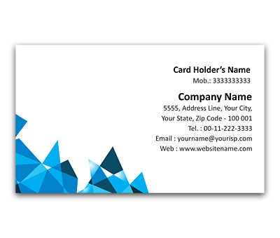 Online Flexi Business Card printing Crystal