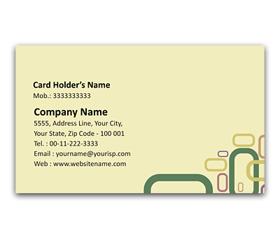 Online Flexi Business Card printing Chain Link