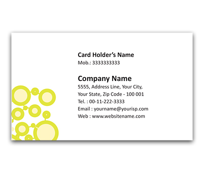 Online Flexi Business Card printing Connected Circles