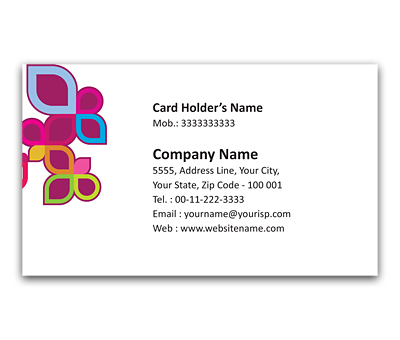 Online Flexi Business Card printing Leaf