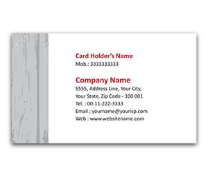 Flexi Business Card printing Raw Wood