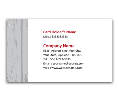 Online Flexi Business Card printing Raw Wood