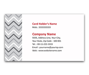 Flexi Business Card printing Wave Pattern